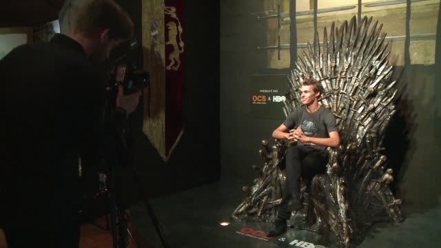 the exhibition of the smash television hit game of thrones opens in paris at the louvre carousel - television game show stock videos & royalty-free footage
