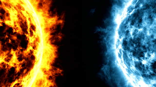 The explosion of planet surface in space is competition between a heat and a cold