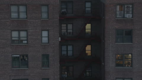 ms the exterior of an apartment building in queens / new york city, new york - apartment stock videos & royalty-free footage