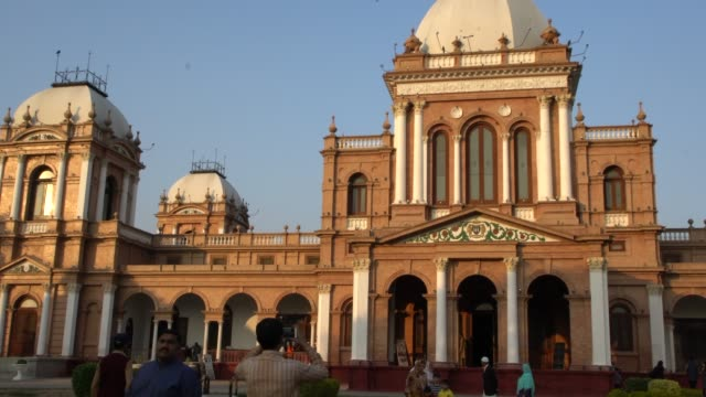 the exterior of the beautiful palace of noor mahal in bahawalpur, pakistan - pakistan stock videos & royalty-free footage