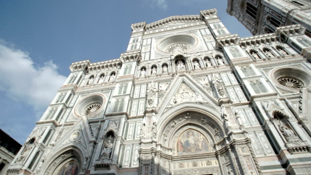 the exterior of the duomo in florence - cathedral stock videos & royalty-free footage