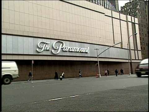the exterior of the former paramount theater at madison square garden is visible. - 1994 stock videos & royalty-free footage
