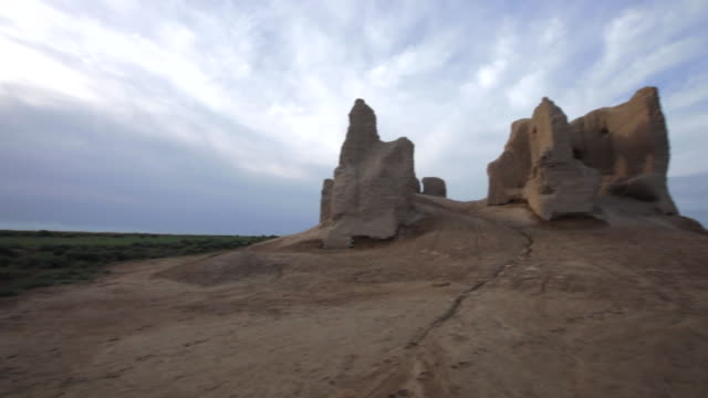 The Exterior of The Little Kyz Kala is a part of Sultan Kala in the ancient Merv, Turkmenistan