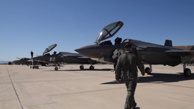 the f35 heritage flight team became certified to perform at air shows around the world during the 2018 heritage flight training and certification... - pilot stock videos & royalty-free footage
