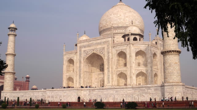 The fabled white tomb of Mumtaz Mahal, the Taj Mahal in Agra, India