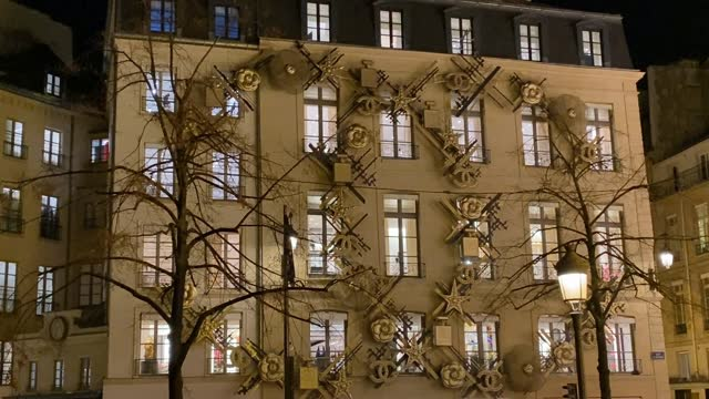 the facade of the chanel boutique is illuminated for christmas and new year celebrations on november 21, 2020 in paris, france. - facade stock videos & royalty-free footage