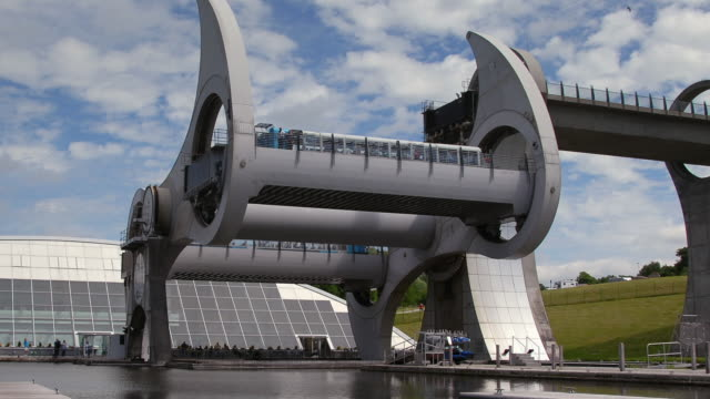 the falkirk wheel scotland - canal stock videos & royalty-free footage