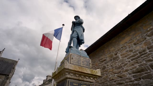the fallen-guerlesquin, finistere - french culture stock videos & royalty-free footage