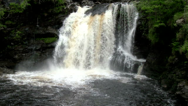 The Falls of Falloch in the Trossachs area of Scotland