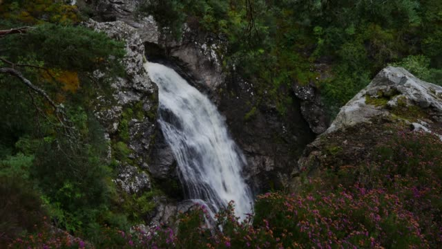 the falls of foyers near the southern shores of loch ness in invernessshire scotland uk these falls are not as dramatic as they used to be after the... - power in nature stock videos & royalty-free footage