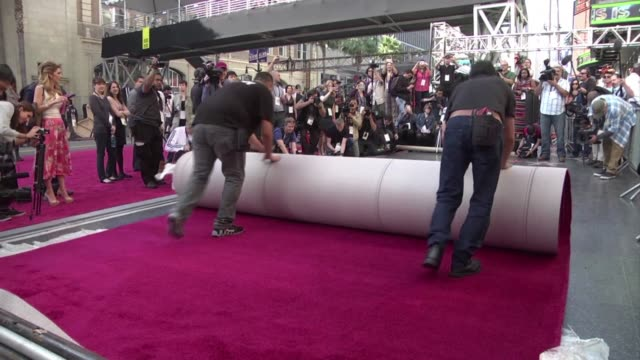 the famed red carpet was rolled out in front of the dolby theater in the hollywood neighborhood of los angeles where the oscars will take place on... - the dolby theatre stock videos & royalty-free footage