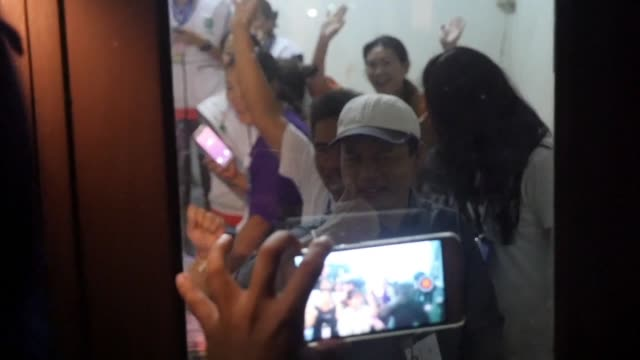 the families of the children trapped for nine days in a flooded cave in thailand show their joy and relief as they learn that the children have been... - thailand stock videos & royalty-free footage