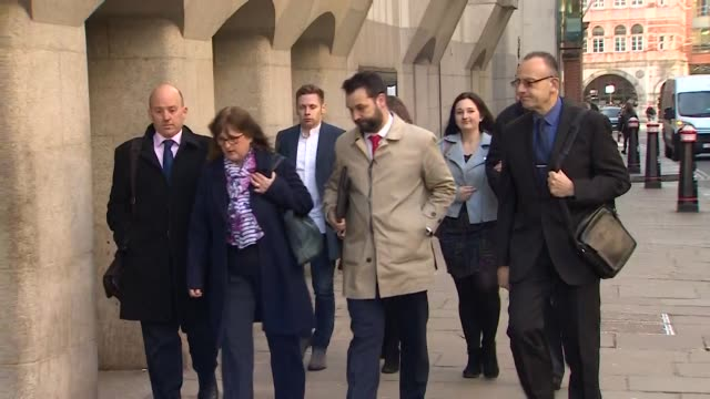 The family of Charlotte Brown arrive at the Old Bailey to see her killer Jack Shepherd appear in court