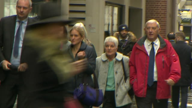 the family of murdered mp jo cox arriving in court for the start of the trial - jo cox politician stock videos and b-roll footage