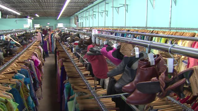 the family tree resale in lincoln square is roughly 5000 square feet of gently used clothes shoes bags furniture and décor in chicago illinois - second hand stock videos & royalty-free footage
