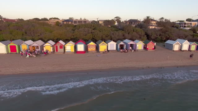 the famous beach houses of brighton beach, melbourne. - david ewing stock videos & royalty-free footage
