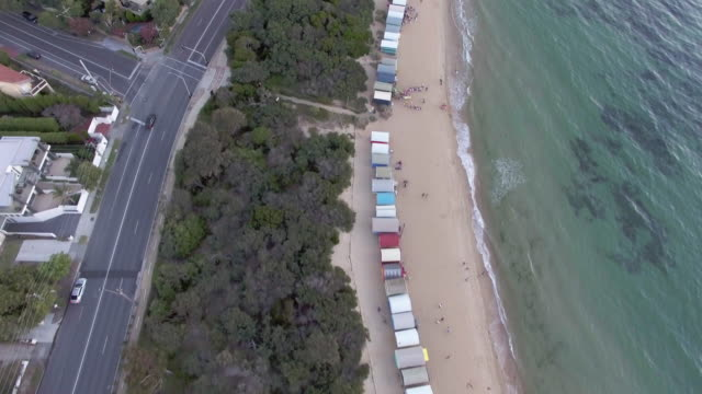 the famous beach houses of brighton beach, melbourne. - stereotypically upper class stock videos & royalty-free footage