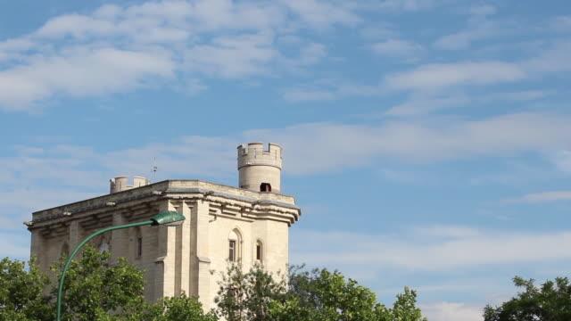 the famous chateau de vincennes in vincennes, france - castello video stock e b–roll