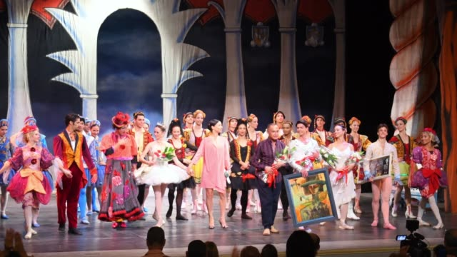 vídeos de stock, filmes e b-roll de the famous cuban ballet company performs the classic 'cinderella' in the stage of the colonial 'teatro de la caridad' the work marks the return of... - teatro clássico