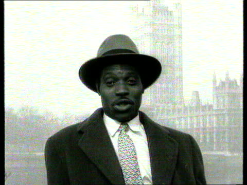 the famous faces collection; tx 6.3.1957 calypso singer, lord kitchener, celebrates independence for ghana england: london: lord kitchener sings a... - ghana stock videos & royalty-free footage