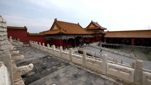 the famous forbidden city in beijing - forbidden city stock videos & royalty-free footage
