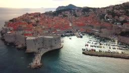 The famous fortified city of Dubrovnik, Croatia