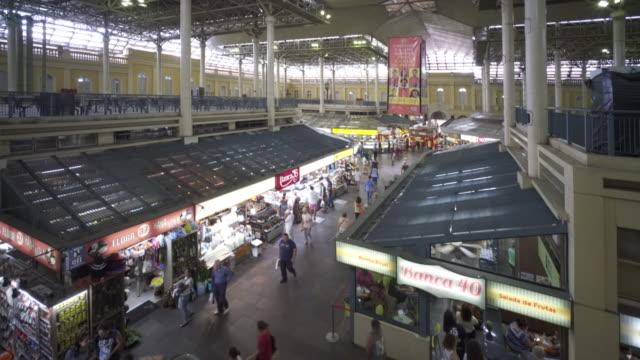 the famous galeria mercado público central porto alegre, brazil - alegre stock videos & royalty-free footage