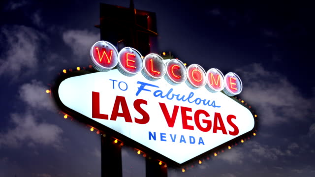 the famous las vegas sign, usa - the strip las vegas stock videos and b-roll footage