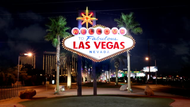 the famous las vegas sign, usa - las vegas stock videos & royalty-free footage