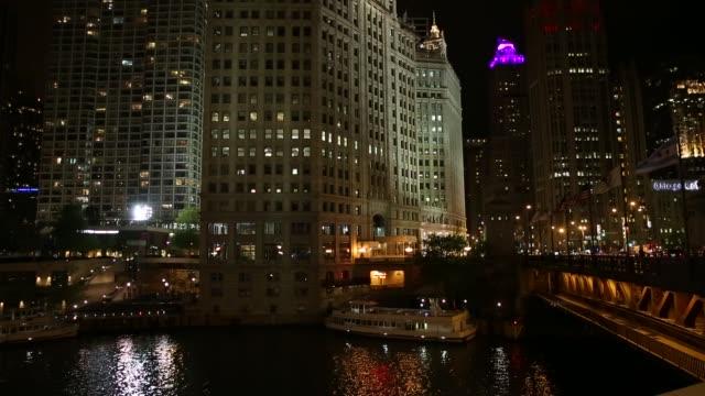 the famous michigan avenue in chicago, illinois, usa - michigan avenue bridge stock videos & royalty-free footage