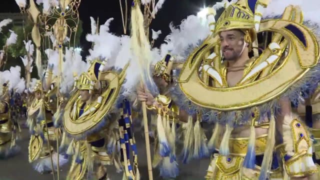 The famous parades of Rio de Janeiro's best samba schools continue Monday evening at the Sambodromo one day after a truck carrying a float ran into...