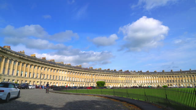 the famous royal crescent at bath , uk - expense stock videos and b-roll footage