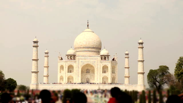 the famous taj mahal in agra, india - taj mahal stock videos and b-roll footage