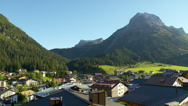 The famous village of Lech in Austria