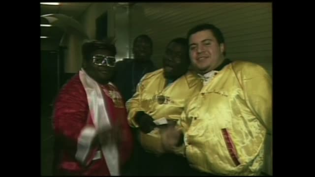 stockvideo's en b-roll-footage met the fat boys backstage at fresh fest ii - hiphop