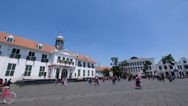 the fatahillah and old city jakarta - java stock videos & royalty-free footage