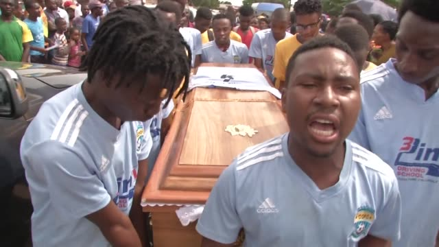 The father of somebody shot and killed during fuel protests in Zimbabwe speaks after the funeral