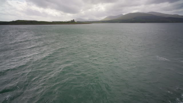 the ferry crossing from oban to the island of mull, - castle island stock videos & royalty-free footage