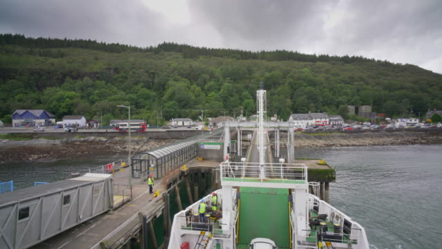 the ferry crossing from oban to the island of mull, - pilgrimage stock videos & royalty-free footage