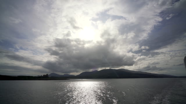 the ferry crossing from the island of mull to oban - mull stock-videos und b-roll-filmmaterial
