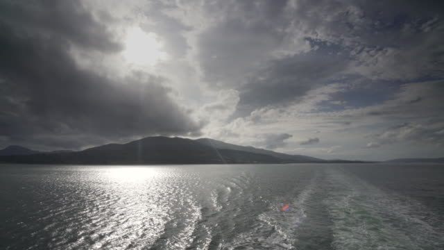 the ferry crossing from the island of mull to oban - hebrides stock videos & royalty-free footage