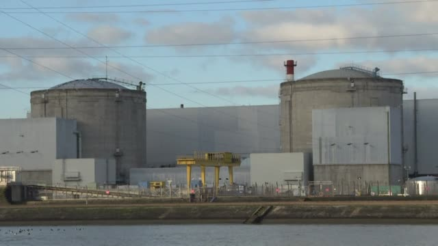 the fessenheim nuclear power plant in france is set to be dismantled with its two reactors to be permanently closed on 22 february and 30 june - nuclear power station stock videos & royalty-free footage