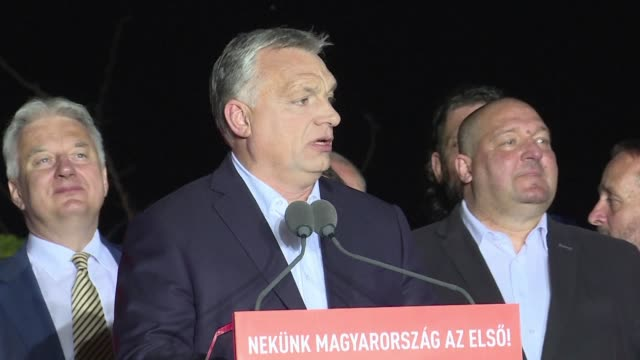 The Fidesz party of Hungary's nationalist Prime Minister Viktor Orban scores a big win in European parliament elections according to results...