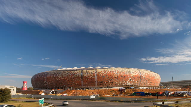t/l the fifa 2010 coca cola stadium in johannesburg, south africa - fifa stock videos & royalty-free footage