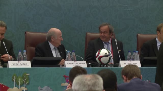 the fifa ethics committee probing allegations of corruption against suspended president sepp blatter and his would be successor michel platini... - nachfolger stock-videos und b-roll-filmmaterial