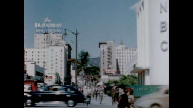vidéos et rushes de 1947 the film studio area of la including hollywood and vine, sunset and vine, rodeo drive - hollywood boulevard