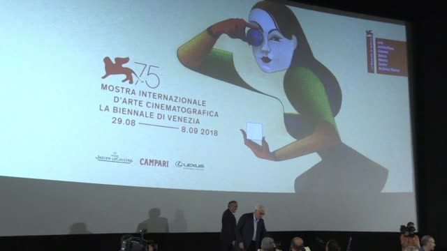 the films for the 75th edition of the venice film festival are unveiled at a press conference by festival director alberto barbera - film festival stock videos & royalty-free footage