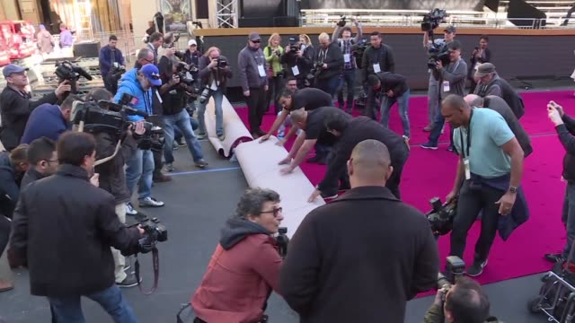 the final countdown to the 90th academy awards ceremony is underway as the iconic red carpet is rolled out for hollywood's glitziest night - oscars stock videos & royalty-free footage