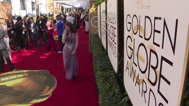 stockvideo's en b-roll-footage met the final preparations are underway on the red carpet for the 74th golden globe awards in beverly hills ready to welcome the stars of hollywood and... - golden globe awards