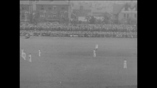 The first day of the 1st Ashes Test Match between England and Australia at Trent Bridge cricket ground in Nottingham 12th June 1926 England are...
